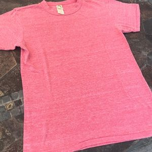 Heathered red triblend tee